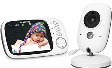 Baby Monitor, Video Baby Monitor Wireless Baby Camera with Night Vision, Digital 2.4Ghz Baby Monitor with Two-Way Audio, Lullabies Temperature