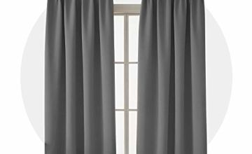 Deconovo Super Soft Pencil Pleat Thermal Insulated Blackout Curtains for Livingroom