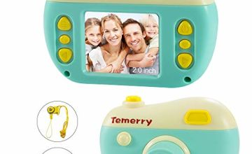 byttron Kids Camera, 2 Inch IPS Children Digital Cameras, 8MP Photo/Video Camcorder, With 32G Mirco SD Card Age 4-12 Years Kids Birthday Gifts Toy