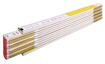 "Stabila 01128/4 2 m x 16 mm""Type 617"" Folding Rules Wood - Multi-Colour"