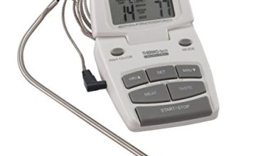MasterClass Digital Meat Thermometer and Cooking Timer, Stainless Steel, White, 18 x 9 x 2 cm