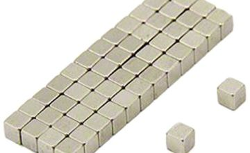 Magnet Expert 3 x 3 x 3mm thick N35 Neodymium Magnet - 0.28kg Pull ( Pack of 50 )
