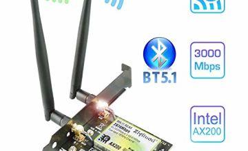 Ziyituod AC 1200Mbps PCIe WiFi Bluetooth Card   Intel Wireless ac-7265   Bluetooth 4.2   Up to 867Mbps   2.4/5 GHz PCI Wireless Network Card for Desktop PC   Windows 10/8.1/8/7 32,64bit(ZYT-7265)