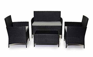 Evre Rattan Garden Furniture Set Patio Conservatory Indoor Outdoor 4 piece set table chair sofa