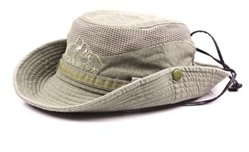 KeepSa Cotton Sun Hat UV Protection Summer Hats Beach Hat Safari Boonie Hat Foldable Fishsing Hat with Breathable Mesh and Adjustable Chin Strap