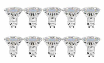 LE GU10 LED Bulbs 3W, Warm White, 35W Halogen Bulb Equivalent