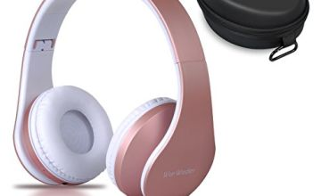 Wireless Bluetooth Over Ear Stereo Foldable Headphones,Wireless and Wired Mode Headsets with Soft Memory-Protein Earmuffs,Built-in Mic for Mobile Phone PC Laptop