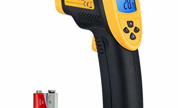 Etekcity Lasergrip 800 Non-contact Digital Laser IR Infrared Thermometer, Temperature Gun, -50°C~750°C ( -58°F~1382°F ), Yellow/Black (Not suitable for measuring body temperature)
