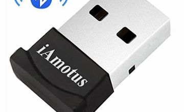 iAmotus® Bluetooth USB Adapter Broadcom 4.0 USB Dongle Bluetooth Receiver Transfer Wireless Adapter for Laptop PC Support Windows 10/8/7/Vista/XP,Mouse and Keyboard,Headset