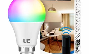 LE WiFi Smart Bulb B22, Work with Alexa and Google Home, RGBCW Bayonet Light Bulb, Dimmable, Colour Changing, No Hub Required, Pack of 2 (9W = 60W, 850lm, RGB 2700K - 6500K)