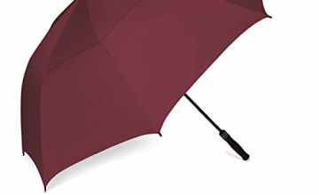 Eono by Amazon - Golf Umbrella 58/62/68 Inch Large Oversize Double Canopy Vented Windproof Waterproof Automatic Open Stick Umbrellas for Men and Women
