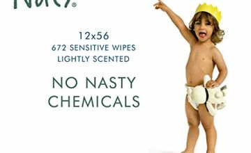 Save on Eco by Naty, Lightly Scented, 672 Count (12 x 56 Wipes), Plant Based Compostable Baby Wipes, 0% Plastic, No Nasty Chemicals and more