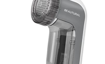 BEAUTURAL Portable Fabric Shaver and Lint Remover with 2-Speeds, Adjustable Shave Height, Quickly and Effectively Remove Fluff, Lint, and Bobbles