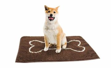 EONO by Amazon Durable Quick Drying Washable Ultra Absorbent Microfiber Dog Door Mat Prevent Mud Dirt Mat, 80 * 50 cm
