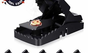 Baban Mousetrap, Rat Snap Trap with Detachable Bait Cup, Safe and Effective Mice Trap, Black Enlarged Version 6 PACK