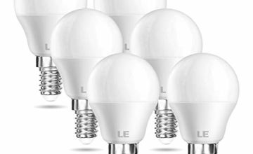LE E14 LED Light Bulb Small Screw, 40W Incandescent Bulb Equivalent, P45 Golf Ball SES LED Bulbs, 5W, 470lm, Warm White 2700K, Pack of 6