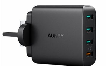 AUKEY Quick Charge 3.0 USB Wall Charger 4 Ports 42W Mains Charger for Samsung Galaxy S9 / S8+ / Note 8, LG G5 / G6, Nexus 5X / 6P, HTC 10, iPhone X / 8/8 Plus, iPad Pro/Air, Wireless Charger and more