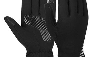 Vbiger Unisex Running Gloves Touch Screen Anti-slip Gloves