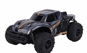 DeeXop Rc Car, Newest 2.4GHz 20km/h High Speed Remote Control Car 1/16 Scale Rc Truck Radio Control Vehicle Off Road Remote Control Monster for Kids & Adults-Black Orange
