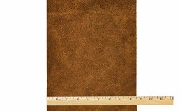 Realeather Crafts Suede Trim Piece 8.5 x 11-inch, Medium Brown