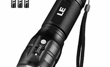 LE Adjustable Focus LED Torch, Zoomable Pocket Size Flashlight, Battery Powered