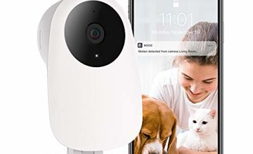 Nooie WiFi Camera,Baby Monitor,Indoor Security Surveillance Camera Pet Monitor 1080P HD with Motion Detection Super IR Night Vision Two-Way Audio, Compatible with iOS and Android