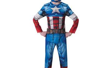 Rubie's Official Marvel Avengers Assemble Captain America Classic, Children Costume - Large Ages 7 -8