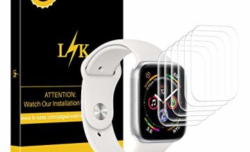 LK [6 Pack Screen Protector for Apple Watch 44mm Series 4 / Series 5, iWatch 44mm,[Case Friendly][Bubble-Free] HD Clear Flexible film