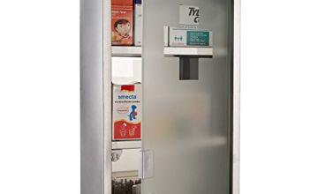 HOMCOM Wall Mounted Medicine Cabinet with Security Glass Door Lockable