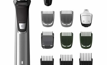 Philips Series 7000 11-in-1 Ultimate Multi Grooming Kit for Beard, Hair and Body with Nose Trimmer Attachment, Premium Metal Handle - MG7735/03