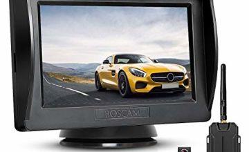 BOSCAM K1 Wireless Reversing Camera, Wide Angle Waterproof Rear View Camera, Night Vision for Cars, Vans, Trucks, RVs