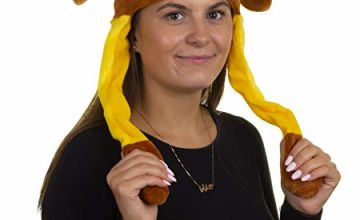Hey Duggee 1986 Flappy Ears Adult Hat, Brown
