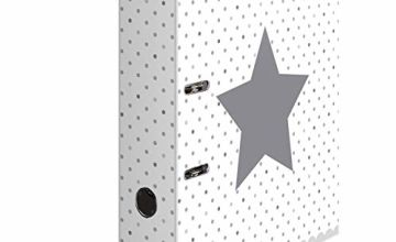 HERMA Lever Arch File Stars with White Dotted Motif, A4, 70 mm Spine, with Inner Print, 1 Folder
