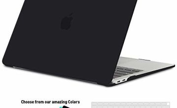 iNeseon Macbook Pro 15 Inch Case 2018/2017/2016, Slim Shell Snap-On Protective Case with Keyboard Cover For Macbook Pro 15 Retina Display with Touch Bar and Touch Id, Model A1990/A1707, Black