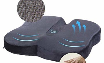 Travel Ease Memory Foam Coccyx Orthopedic Seat Cushion, Seat Cushion for Lower Back Pain and Sciatica Tailbone Pain Relief – Fit for Office Chair, Car Seat, Wheelchair
