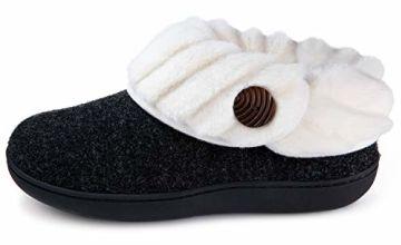 Women's Warm Fleece Collar Bootie Slippers