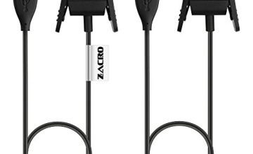 Zacro 2 PCs Fitbit Charge 2 Charger Replacement USB Charger Charging Cable for Fitbit Charge 2 with Cable Cradle Dock Adapter for Fitbit Charge 2(50 cm)