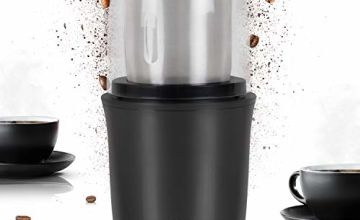 Duronic Electric Coffee Grinder CG250 | 250W Motor | Stainless-Steel Blade | Grinding Mill for Coffee Beans, Herbs, Spices, Nuts, Seeds, Pulses and Fruit