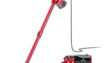 MooSoo Vacuum Cleaner, 17000Pa Stick Corded Lightweight Vacuum with 600W Motor, Telescopic Metal Tube, 5m Power Cord, D600