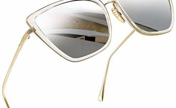 Joopin Fashion Cateye Sunglasses for Women - Retro Transpare