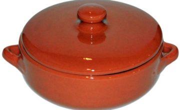 Amazing Cookware SB133 Natural Terracotta Deep Dish with Lid (Diameter 15cm, Depth 5cm)