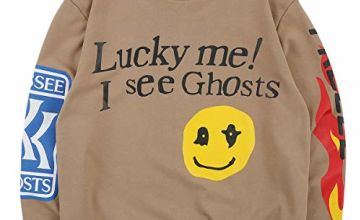 Kanye West Lucky me I See Ghosts Sweatshirt Hoodie Hip Hop Rapper Cotton