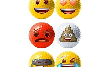 Emoji Official Novelty Fun Golf Balls (Pack of 6)