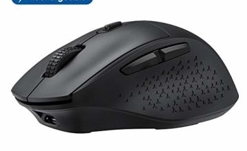 【2020 NEWEST】Wireless Mouse Rechargeable, VicTsing Unique Comfortable USB Computer Mouse with Noiseless Buttons, Adjustable DPI, Plug & Play for PC, Computer, Laptop etc. - Ideal for Office and Home