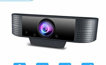 MHDYT Webcam for PC with Microphone 1080P Full HD Web Cam for MAC/Laptop/Desktop, Plug and Play USB Web Camera,Streaming Webcam for Youtube,Skype,Zoom,XBOX One Video Calling,Studying and Conference