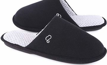 Men's & Women's Cotton Knit Memory Foam Slippers Light Weigh