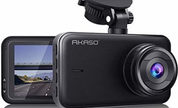 AKASO C320 Dash Cam, 1080P FHD Dashboard Car Camera Recorder with 3 Inch Wide Angle LCD Screen, Built-in G-Sensor Motion Detection, Park Monitor, WDR, Loop Recording