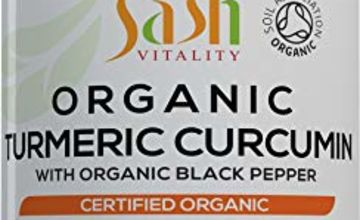 Organic Turmeric Curcumin Inc Black Pepper – 1800mg High Strength Serving   Antioxidant Combination Complex   120 Vegan Capsules   High Potency & Absorption   Organic Supplement, Non-GMO, Gluten Free