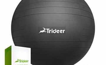 Trideer Exercise Ball (Multiple Colours), 45-85cm Gym Ball Supports 2200lbs, Ball with Quick Pump, Birthing Ball for Yoga, Pilates, Fitness, Pregnancy & Labour
