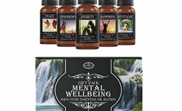 Mystic Moments Mental Wellbeing | Essential Oil Blend Gift Starter Pack, Multicoloured, 5 x 10ml